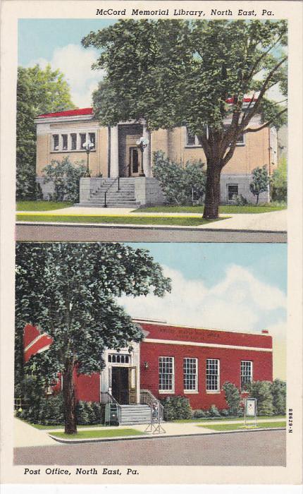 McCord Memorial Library, Post Office, NORTHEAST, Pennsylvania, 10-20s