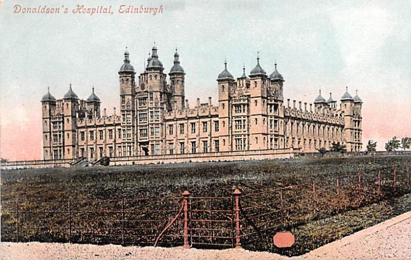 Scotland, UK Old Vintage Antique Post Card Donaldson's Hospital Edinburg...