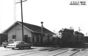 Beaumont Mississippi Gulf Mobile-Ohio train depot real photo pc Z23754