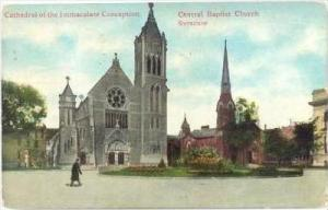 Cathedral Of The Immaculate Conception, Central Baptist Church, Syracuse, New...