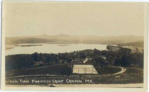 RP View from Pinewood Camp Canton Maine ME 1921
