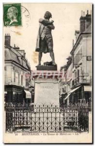 Old Postcard Montargis Statue of Mirabeau