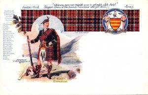 Scotland UK~Clan Cameron Chief~Dog~Tartan Plaid~Coat of Arms~Septs List~Artist