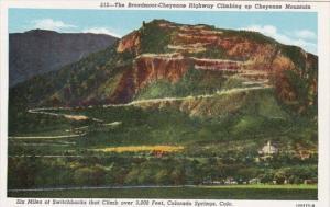 Colorado Colorado Springs The Broadmoor-Cheyenne Highway Climbing Up Cheyenne...