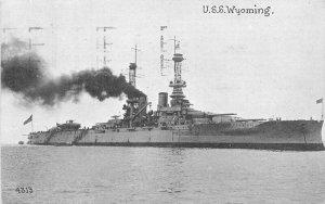 1914 Navy Military USS Wyoming #4313 Postcard 10940