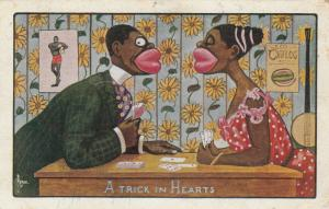 AS: RYAN, PU-1917; Couple playing cards, A Trick in Hearts