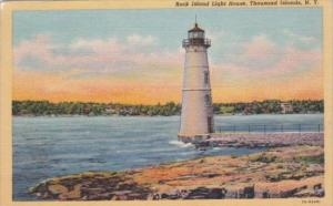 Rock Island Lighthouse Thousand Islands New York Curteich