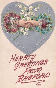 Hands Across The Sea Basford Nottingham Greetings Postcard