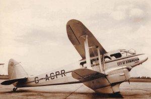 Birmingham Railway City Air Services Ltd Plane Real Photo Postcard