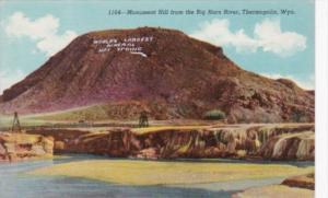 Wyoming Thermopolis Monument Hill From The Big Horn River