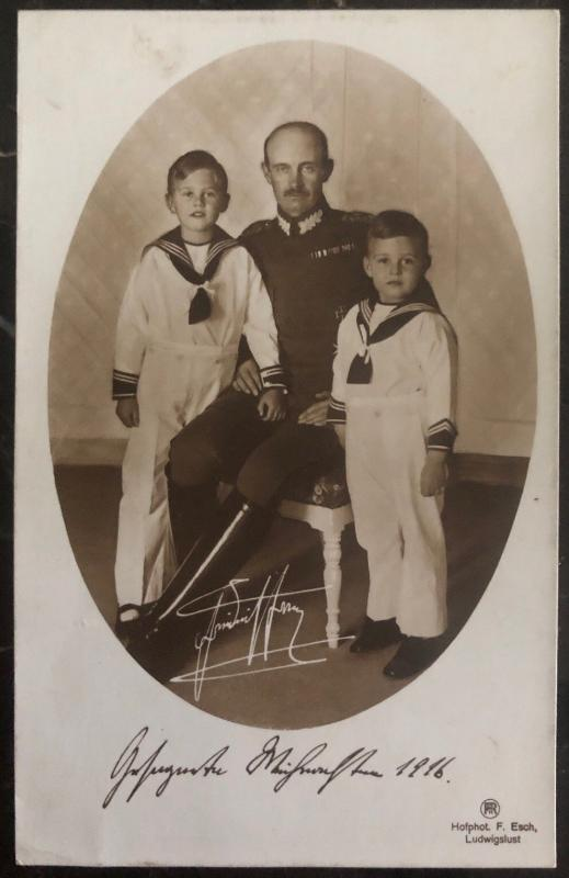 Mint England Real Picture Postcard RPPc 1916 General Henry Rawlinson & Kids