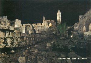 Post card Israel Jerusalem The Citadel night aspect
