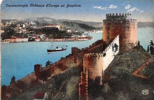 Turkey Old Vintage Antique Post Card Chateaux d'Europe Bospore Constanti...
