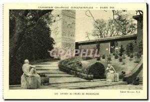 Old Postcard Paris International Exhibition in 1931 Colonlale Entree Du Palai...