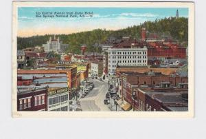 ANTIQUE POSTCARD NATIONAL STATE PARK HOT SPRINGS UP CENTRAL AVE FROM COMO HOTEL