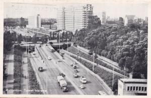 Rotterdam Tunnel Traverse Aerial Motorway Dutch Highway Postcard