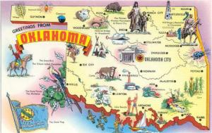 Greetings from Oklahoma Map Card