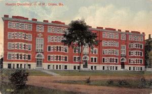 Orono University of Maine~Hamlin Dormitory~Lots of Bay Windows~Arch Doors~1915