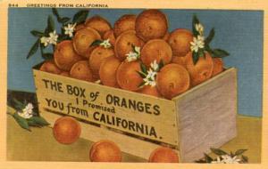 Box of Oranges from California
