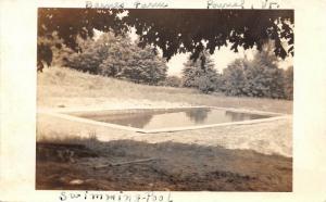 Pownal Bennington Vermont~Barnes Farm~Swimming Pool in Field~1938 RPPC