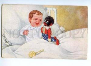 175922 Boy & GOLLIWOGG Doll Vintage PC