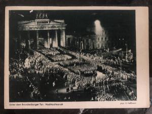 1938 Berlin Germany RPPC Postcard cover to Munich under the brandenburg gate