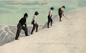 Old Vintage Mountain Climbing Postcard Post Card Climbing Mount Abbot Glacier...