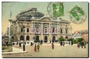Old Postcard The Theater Geneve