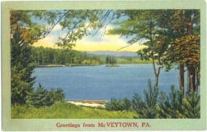 Linen Scenic Greetings from McVeytown, Pennsylvania, PA