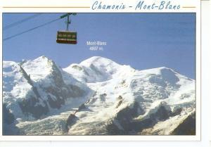 Postal 045771 : Chamonix - Mont-Blanc. Le telepherique du Brevent face au Mas...