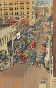 Alexandria LA~Third Street Business~Macy's Drugs~Koblen~Walgreen's~1941 Linen