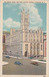 New York Syracuse The Mizpah Hotel And First Baptist Church