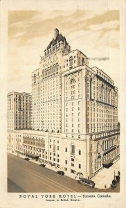Toronto Canada Royal York Hotel Largest in British Empire Real Photo Postcard