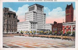 Municipal Office Building, Baltimore, Maryland, 1932 Postcard, Unused