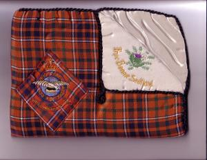 Cloth Tartan Commemorative Royal Canadian Air Force Bag, Scotland...