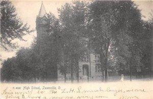 High School - ZANESVILLE, OH - Ohio Vintage UDB Postcard 1906