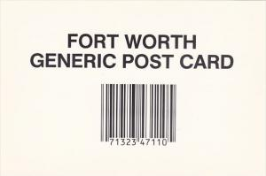 Texas Fort Worth Generic Post Card