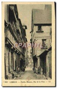 Old Postcard Lisieux Old Houses street peace