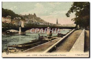 Lyon - d & # 39Ainay Pont l & # 39Antiquaille and Fourviere - Old Postcard