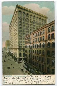First National Bank Chicago Illinois 1907 postcard