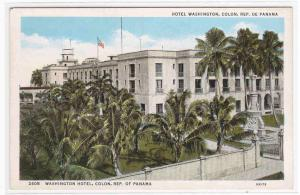 Hotel Washington Colon Panama 1920s postcard