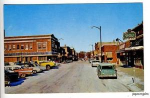 Forest City IA 1965 Street View Cars Postcard