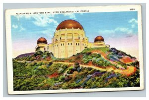 Vintage 1930's Postcard Planetarium Griffith Park Hollywood California