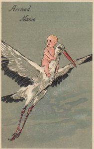 AS: BIRTHDAY , 00-10s ;Stork & Baby , PFB 8772 : #5