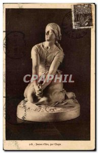 Art - Sculpture - Jeanne d & # 39Arc - Old Postcard
