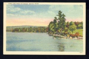 Naples, Maine/ME Postcard, Long Lake From The Bridge