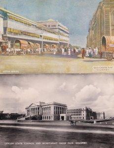 Colombo Hotel Lipton Tea State Counci Building RPC 2x Postcard s