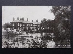 Norfolk NORWICH FLOODS Trowes Bridge Collapsing August 27th 1912 by J&S 7810