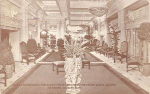 Denver Colorado Roman Promenade The Albany Hotel antique pc Z12350