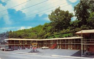 Spruce Pine North Carolina Baker Motel Street View Vintage Postcard K52714